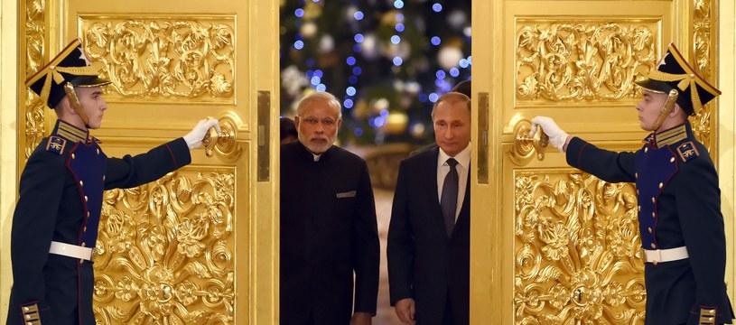Premier Indii Narendra Modi i prezydent Rosji Władimir Putin /AFP