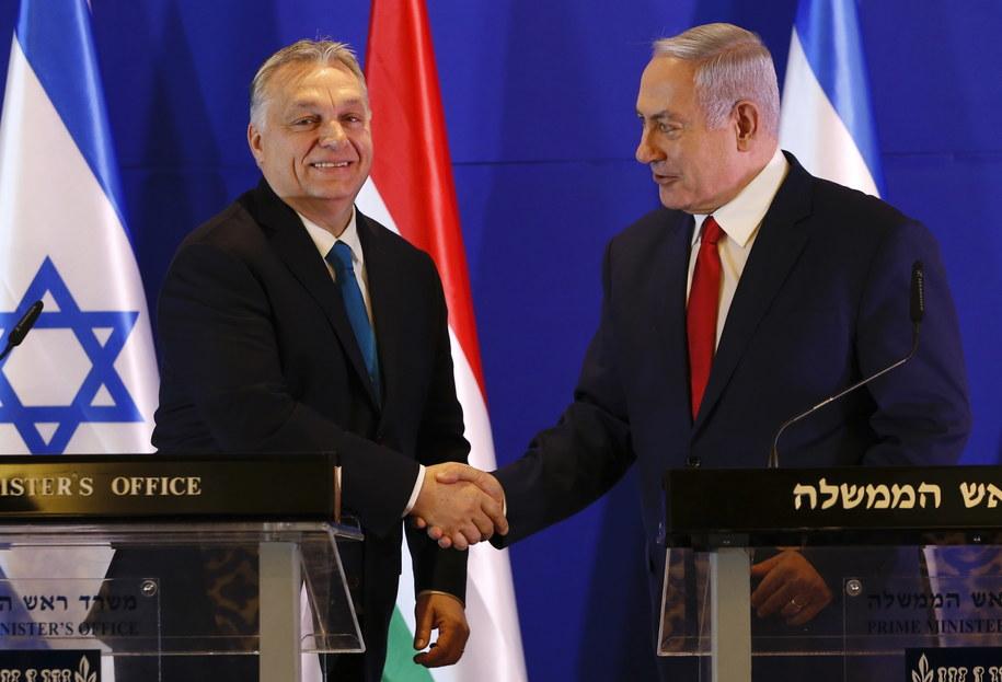 Premier Izraela i premier Węgier odbyli spotkanie pomimo odwołania szczytu V4 /ARIEL SCHALIT / POOL /PAP/EPA
