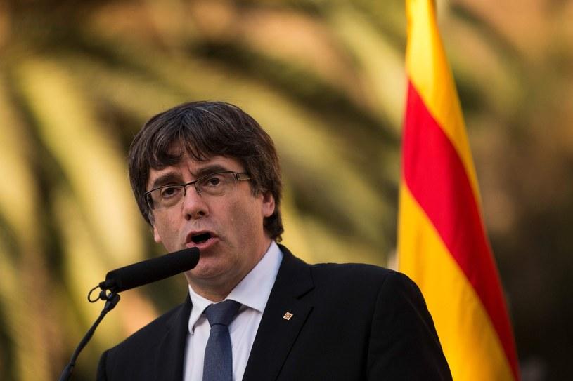Premier Katalonii Carles Puigdemont /PAU BARRENA  /East News