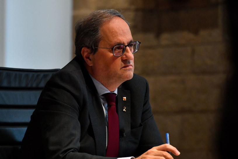 Premier Katalonii Quim Torra /PAU BARRENA  /AFP