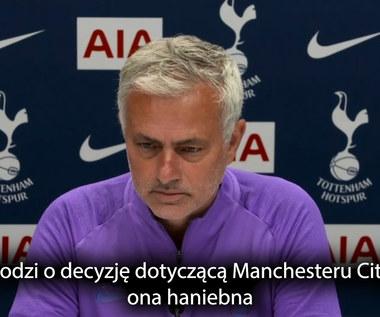 Premier League. Jose Mourinho: Decyzja w sprawie Manchesteru City jest skandaliczna. Wideo
