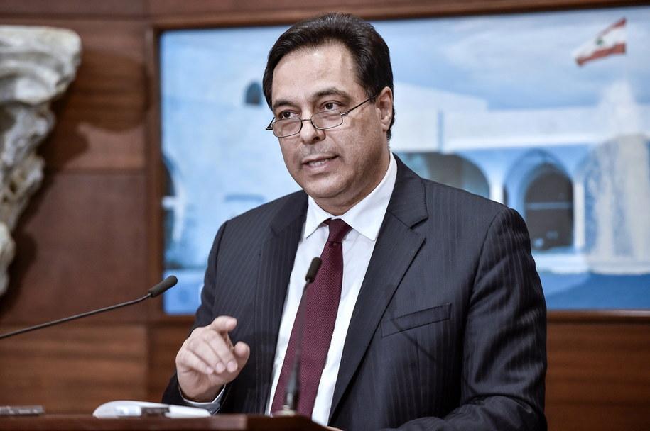 Premier Libanu Hassan Diab /WAEL HAMZEH /PAP/EPA