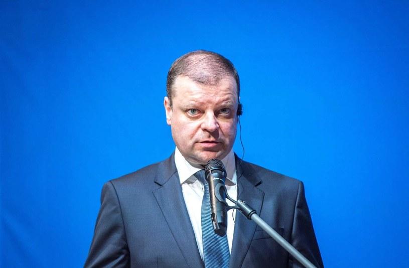 Premier Litwy Saulius Skvernelis /MARKO MUMM /AFP