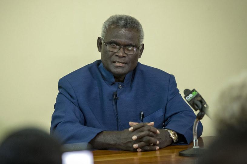 Premier Manasseh Sogavare /ROBERT TAUPONGI /AFP
