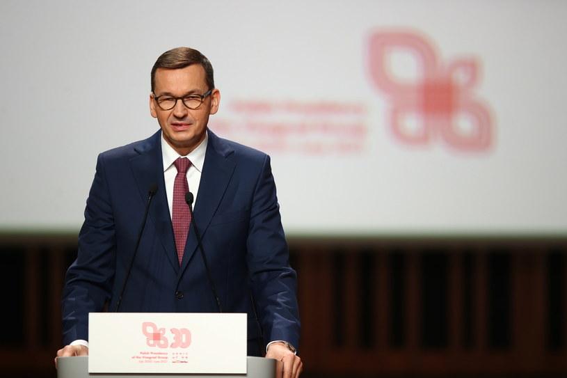 Premier Mateusz Morawiecki bierze udział w Krakowie w szczycie szefów państw Grupy Wyszehradzkiej /Łukasz Gągulski /PAP
