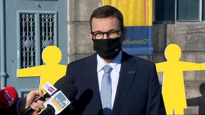 Premier Mateusz Morawiecki bierze udział w szczycie państw UE w Porto /Polsat News