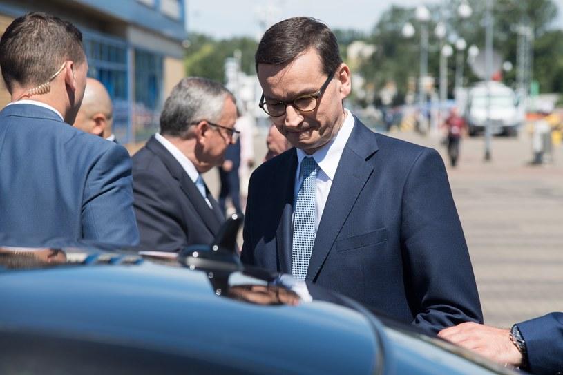 Premier Mateusz Morawiecki długo czekał na prezesa PiS /Wojciech Strozyk/REPORTER /Reporter