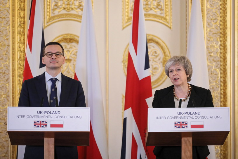 Premier Mateusz Morawiecki i premier Theresa May /Paweł Supernak /PAP