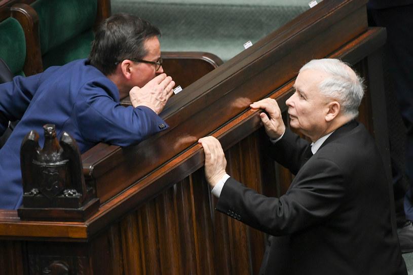 Premier Mateusz Morawiecki i prezes PiS jarosław Kaczyński /Jacek Dominski/REPORTER /East News