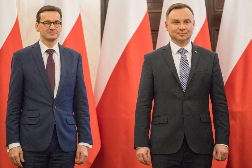 Premier Mateusz Morawiecki i prezydent Andrzej Duda /Paweł Wiśniewski / Polska Press /East News