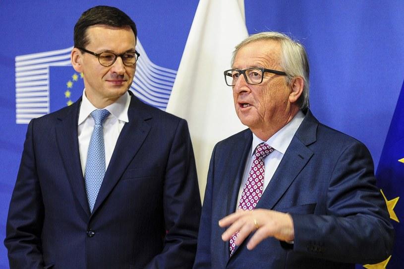 Premier Mateusz Morawiecki i szef KE Jean-Claude Juncker /JOHN THYS / /AFP