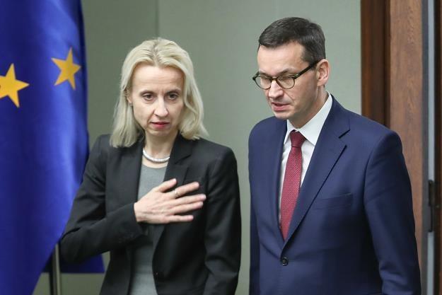 Premier Mateusz Morawiecki, minister finansów Teresa Czerwińska. Fot Andrzej Iwańczuk /Reporter