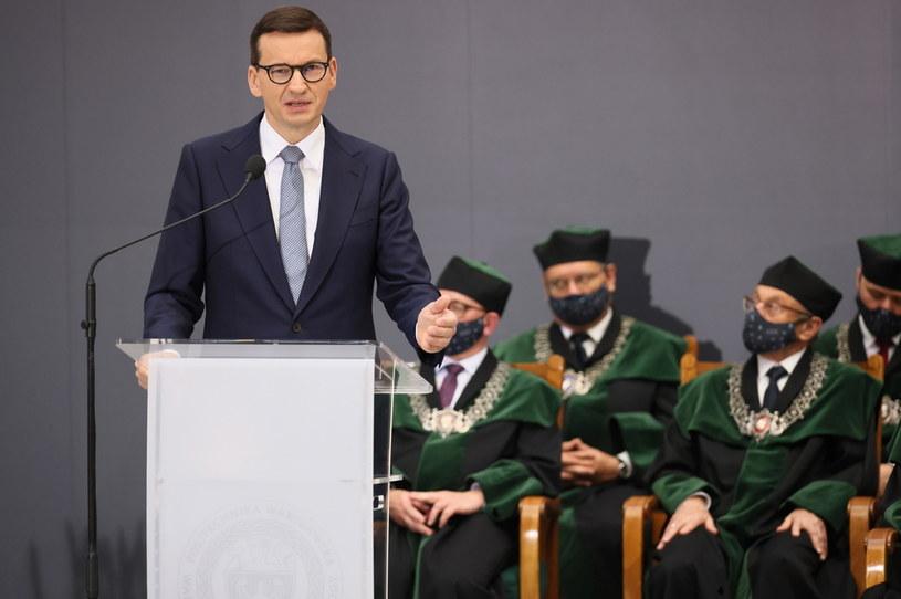Premier Mateusz Morawiecki na Politechnice Warszawskiej / PAP/Leszek Szymański /PAP