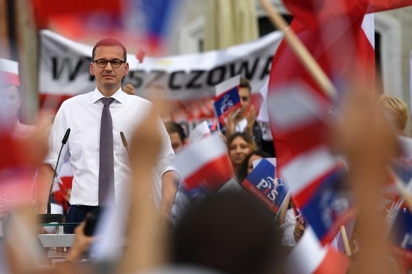 Premier Mateusz Morawiecki na spotkaniu wyborczym PiS w Sandomierzu / Piotr Polak    /PAP