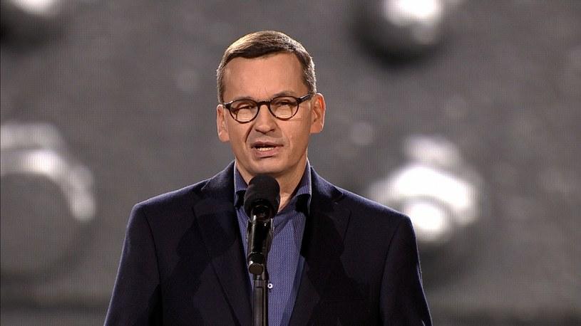 Premier Mateusz Morawiecki na Stadionie PGE Narodowym /Polsat