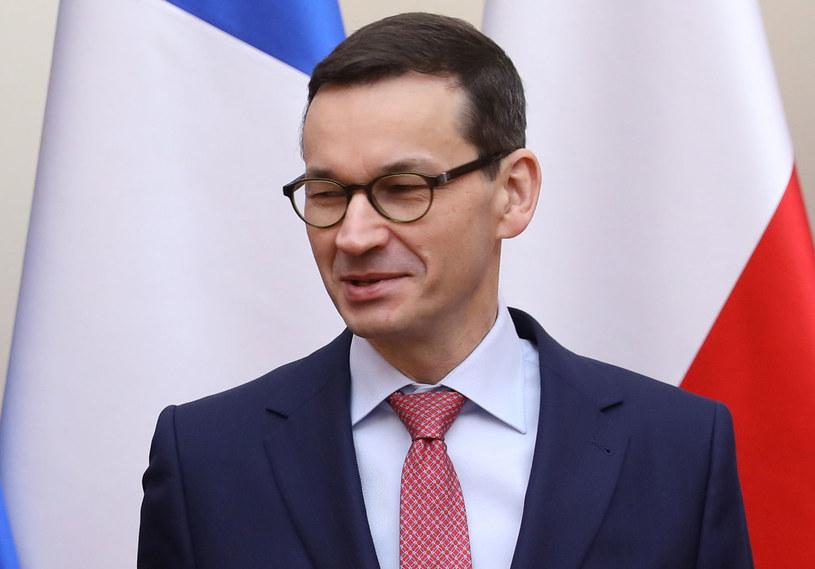 """""""Premier Mateusz Morawiecki nie unika trudnych tematów"""" /Rafał Guz   /PAP"""