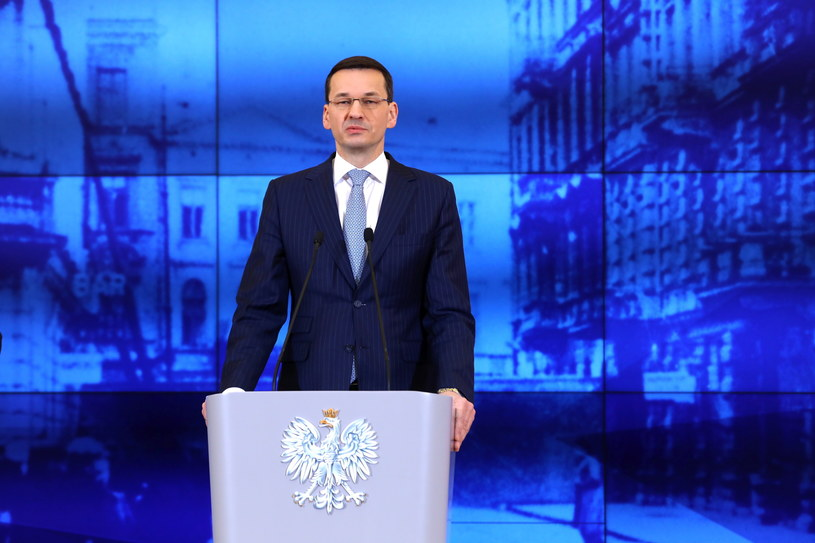 Premier Mateusz Morawiecki ogłosił powołanie Muzeum Getta Warszawskiego /Rafał  Guz /PAP