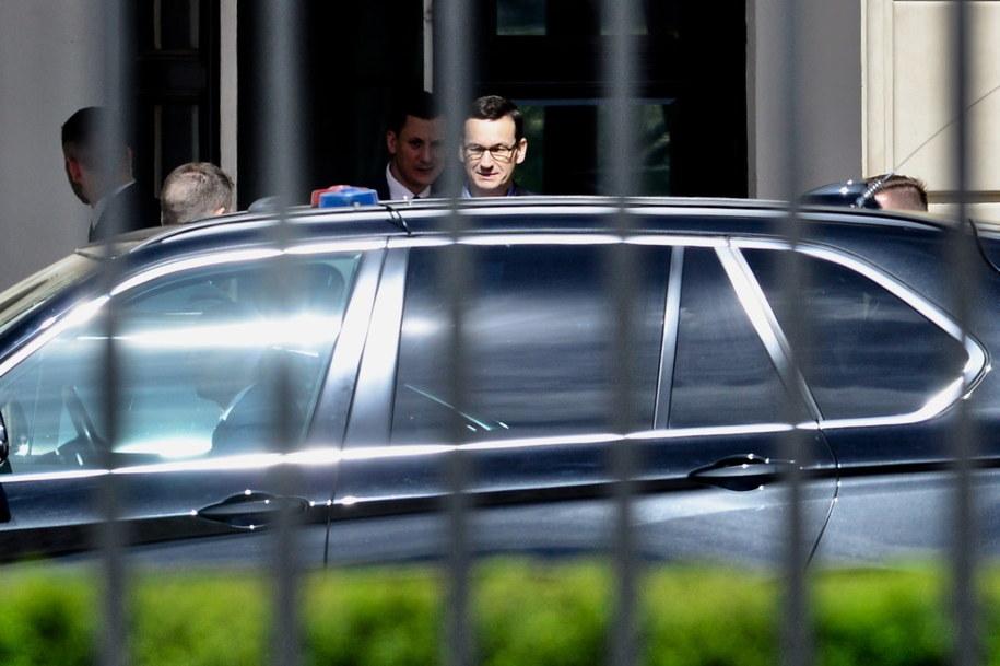 Premier Mateusz Morawiecki po spotkaniu w Pałacu Prezydenckim w Warszawie / Jakub Kamiński    /PAP