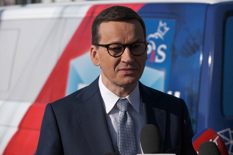 Premier Mateusz Morawiecki podczas konferencji prasowej /PAP/Mateusz Marek /PAP