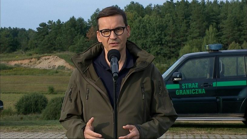 Premier Mateusz Morawiecki podczas konferencji prasowej /Polsat News /Polsat News