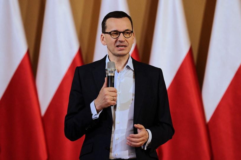 Premier Mateusz Morawiecki podczas spotkania z mieszkańcami Zakopanego / Grzegorz Momot    /PAP
