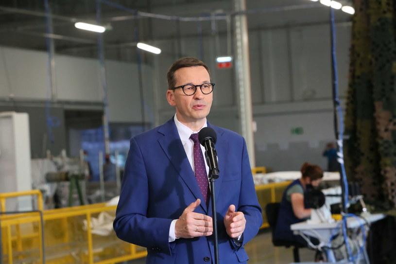 Premier Mateusz Morawiecki podczas wizyty w Wielkopolsce /Tomasz Wojtasik /PAP