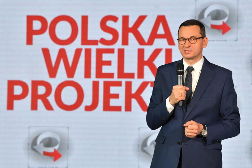 Premier Mateusz Morawiecki podczas X Kongresu Polska Wielki Projekt / Radek Pietruszka   /PAP