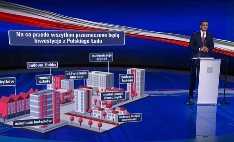 Premier Mateusz Morawiecki prezentuje program Polski Ład /materiały prasowe