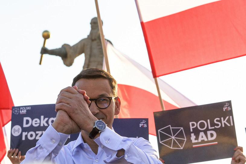 Premier Mateusz Morawiecki promujący Polski Ład /Marek Maliszewski  /Reporter