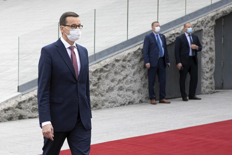 Premier Mateusz Morawiecki przed szczytem Grupy Wyszehradzkiej w Lublinie /Jacek Szydłowski /PAP