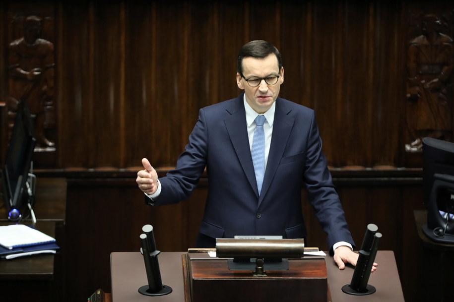 Premier Mateusz Morawiecki: Szczytu zachorowań spodziewamy się na maj-czerwiec /Wojciech Olkuśnik /PAP