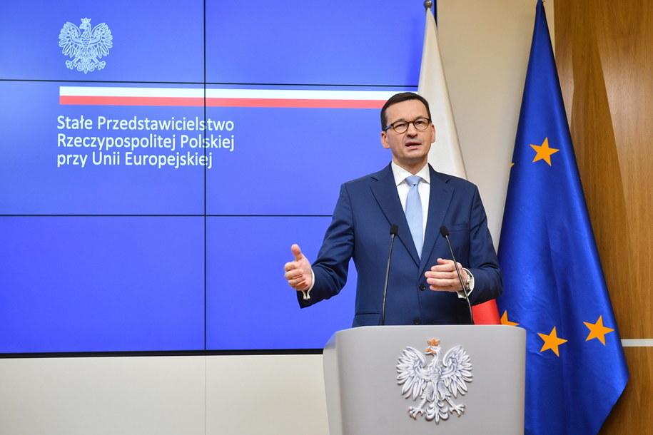 Premier Mateusz Morawiecki w Brukseli / Radek Pietruszka   /PAP