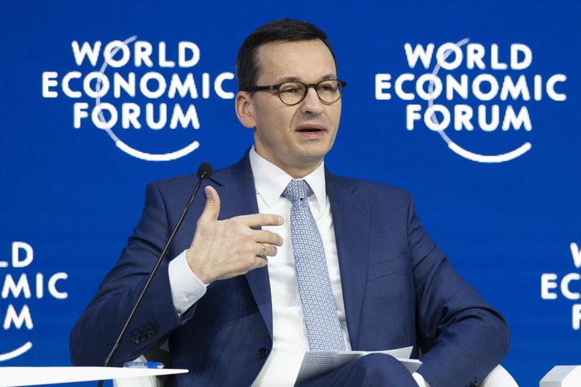 Premier Mateusz Morawiecki w Davos /GIAN EHRENZELLER /PAP/EPA