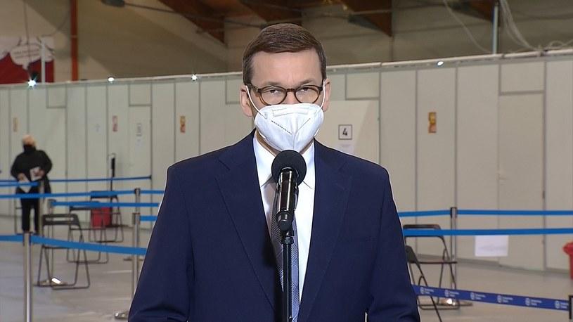 Premier Mateusz Morawiecki w Gliwicach /Polsat News