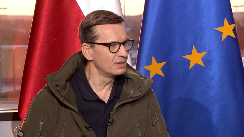"""Premier Mateusz Morawiecki w """"Gościu Wydarzeń"""" /Polsat News /Polsat News"""