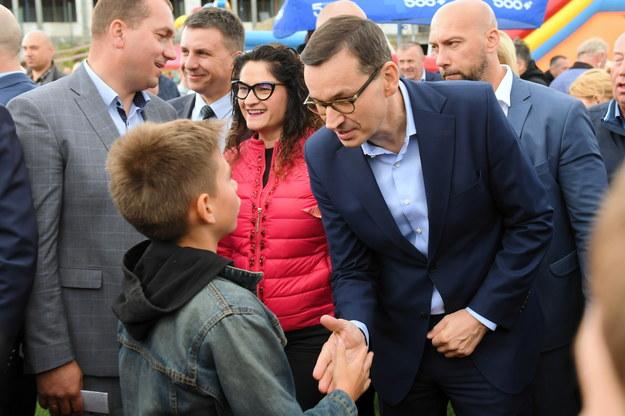 Premier Mateusz Morawiecki w Kielnie / Adam Warżawa    /PAP