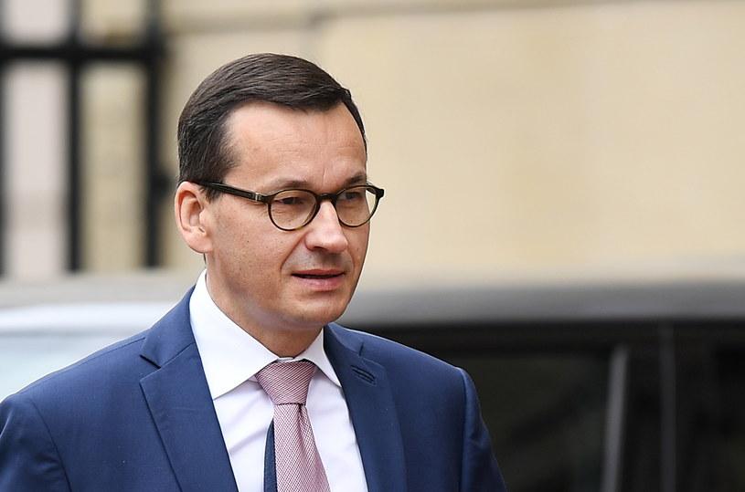 Premier Mateusz Morawiecki w Londynie / ANDY RAIN    /PAP/EPA