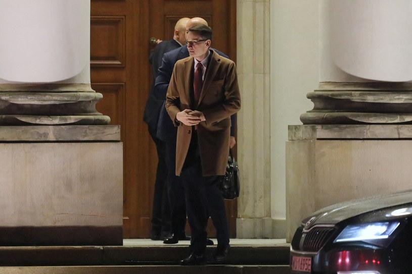 Premier Mateusz Morawiecki w Pałacu Belwederskim w Warszawie /Paweł Supernak /PAP