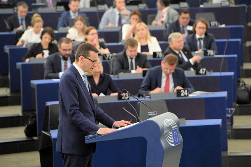 Premier Mateusz Morawiecki w PE /Radek Piertruszka /PAP