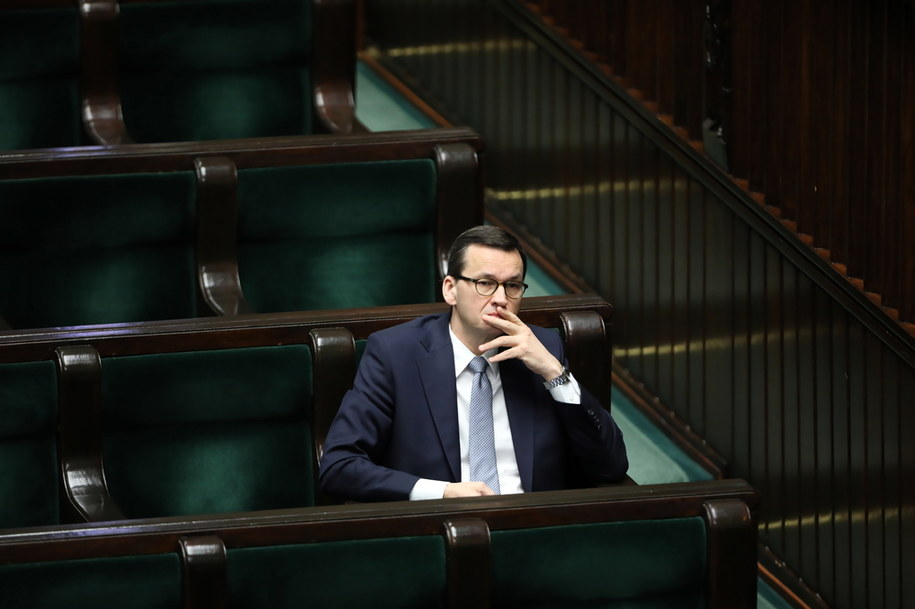 Premier Mateusz Morawiecki w Sejmie /Wojciech Olkuśnik /PAP