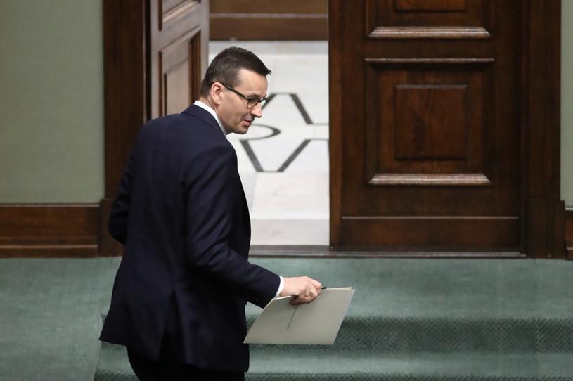 Premier Mateusz Morawiecki w Sejmie / Leszek Szymański    /PAP