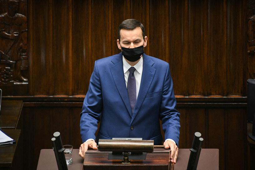 Premier Mateusz Morawiecki w Sejmie /Jacek Dominski/ /Reporter