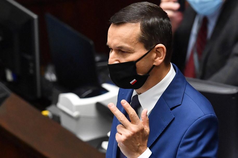 Premier Mateusz Morawiecki w Sejmie / Radek Pietruszka   /PAP