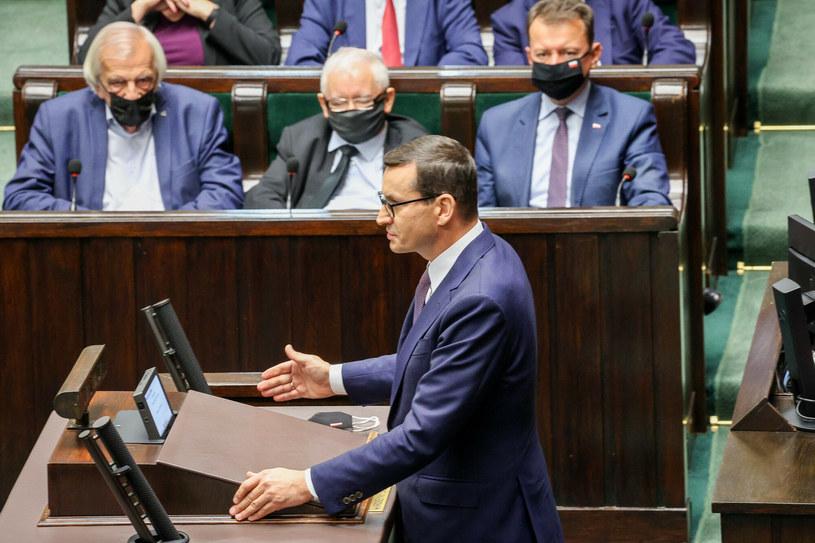 Premier Mateusz Morawiecki w Sejmie / Jacek Domiński /Reporter