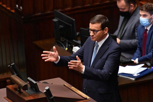 Premier Mateusz Morawiecki w Sejmie /Piotr Nowak /PAP