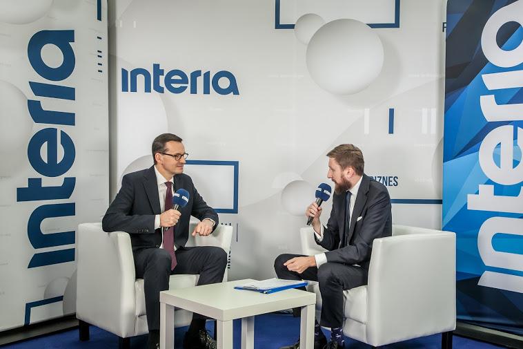 Premier Mateusz Morawiecki w studiu Interii, fot. Ireneusz Rek /INTERIA.PL