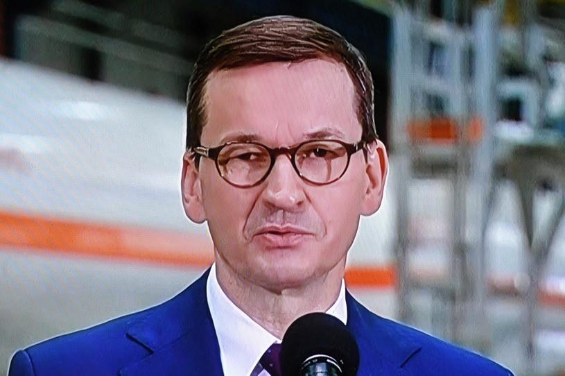 Premier Mateusz Morawiecki w Tarnowskich Górach /Radek  Pietruszka /PAP