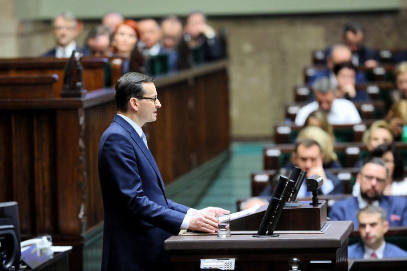 Premier Mateusz Morawiecki wygłasza expose w Sejmie / Leszek Szymański    /PAP
