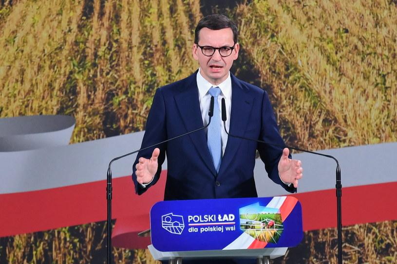 Premier Mateusz Morawiecki wystąpił w mazowieckiej Przysusze / Piotr Polak    /PAP