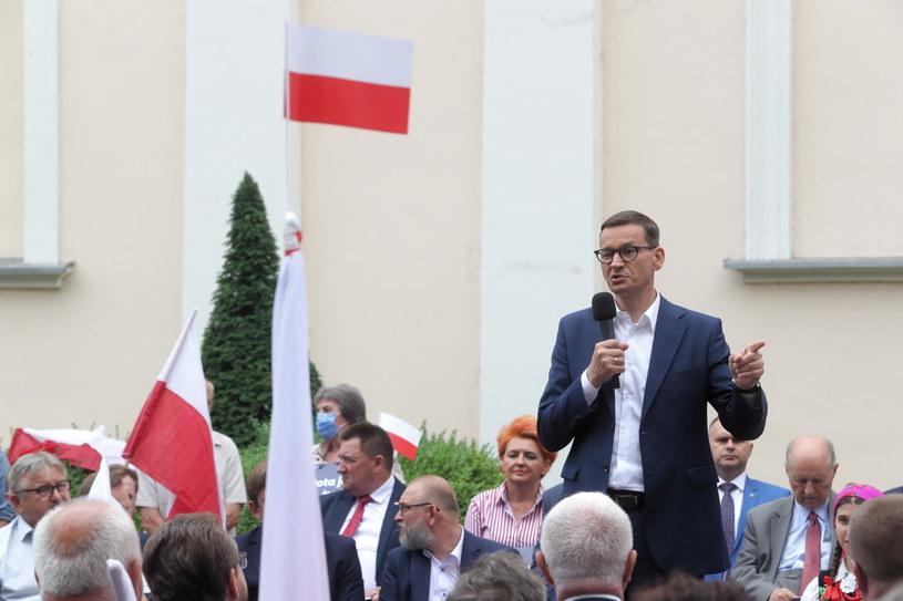 Premier Mateusz Morawiecki z wizytą w Łowiczu /Roman Zawistowski /PAP/EPA